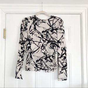 ALC Layered Silk Graphic Blouse - 6
